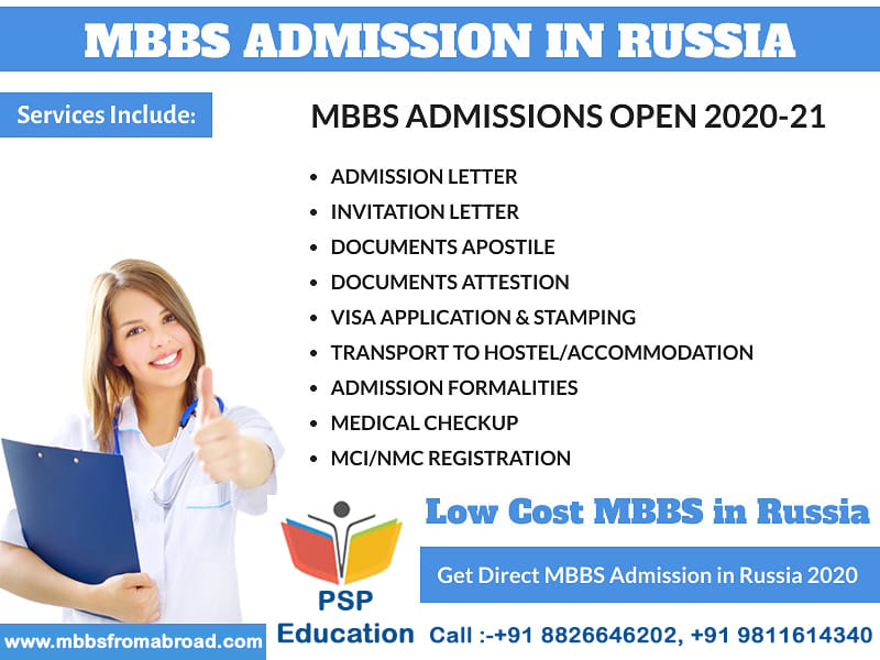 Requirement for the MBBS Admission in Russia 2020-2021.